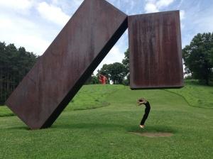 Worshiping a miracle at Storm King Sculpture Park, July 2014