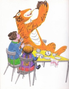 From The Tiger Who Came To Tea, by Judith Kerr