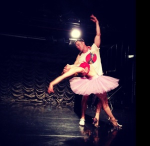 Rehearsing with my Nutcracker Prince, Todd Hanebrink