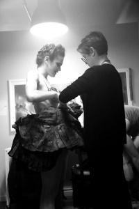Backstage with Jen, XIV's champion dresser